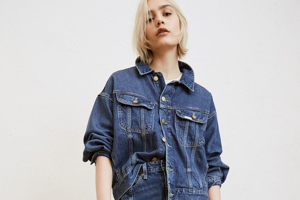 A H&M x Lee denim-filled outfit.