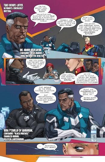 Blue Marvel Black Panther