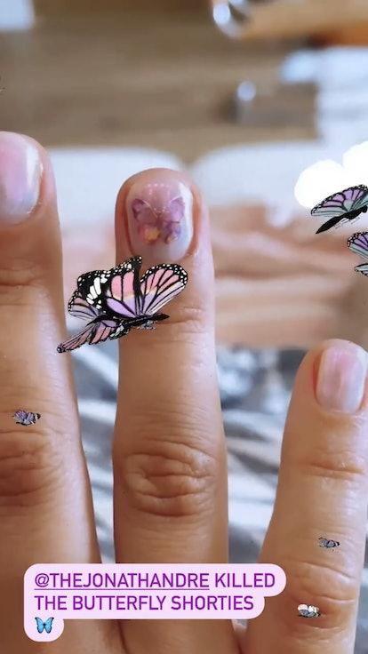 Demi Lovato butterfly manicure