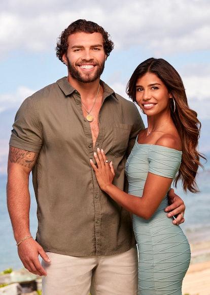 Julian Allen and Kristen Ramos in 'Temptation Island' Season 3 via USA's press site