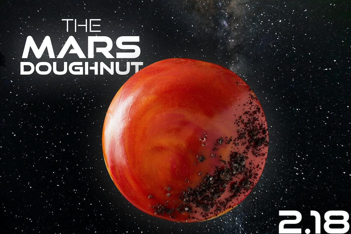 Krispy Kreme is selling a doughnut that looks just like Mars on Feb. 18.