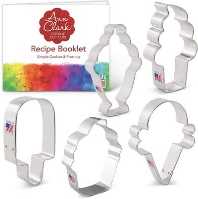 Ann Clark Cookie Cutters Ice Cream & Sweets Cookie Cutter Set (5 Pieces)