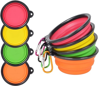 PetBonus Collapsible Dog Bowls, 8.8 Oz. (4-Pack)