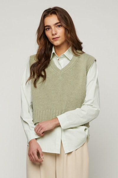 Wool Blend Sweater Vest
