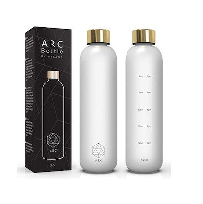 ARCANA Water Bottle With Time Marker