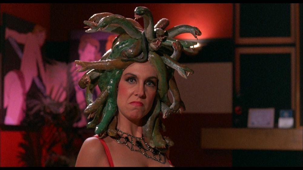 Medusa (Jennifer Richards) showcasing the film's understated sense of style.