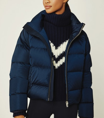 Cropped Performance Satin Down Jacket