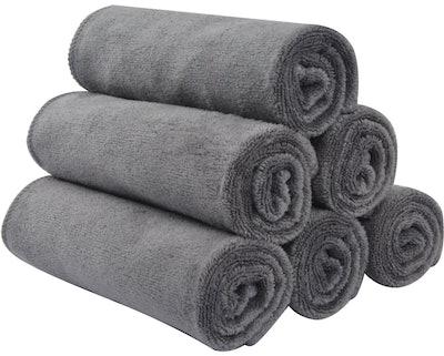 Sinland Microfiber Washcloths (6-Pack)