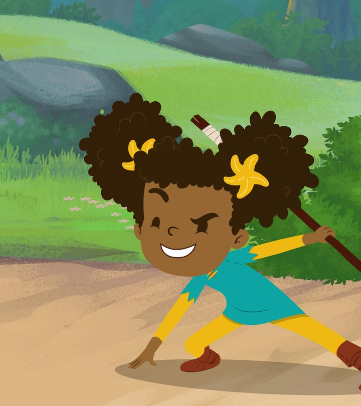 Nia is a knight in training following the advice of her father, Cedric.