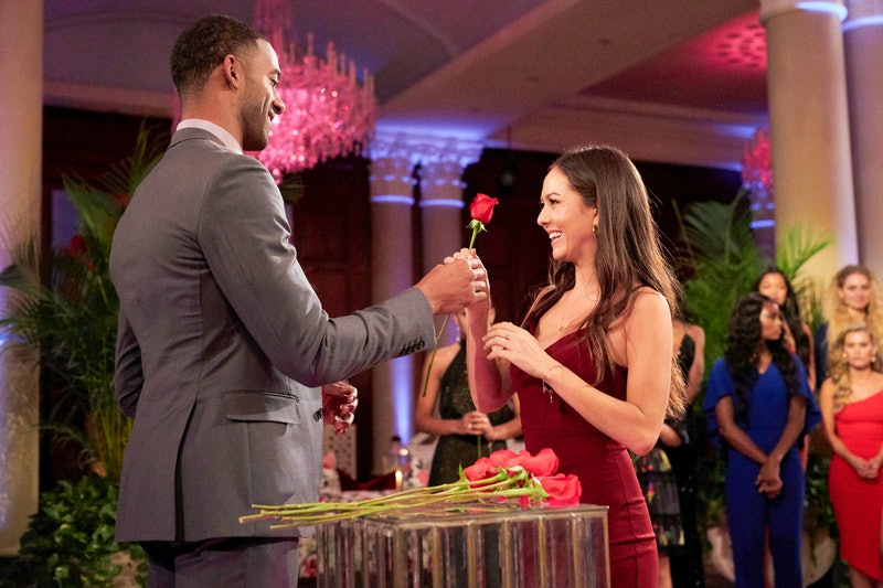 Matt James gives Abigail Heringer a rose on 'The Bachelor' via ABC Press Site