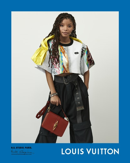 Halle Bailey appears in Louis Vuitton Spring/Summer 2021 campaign.