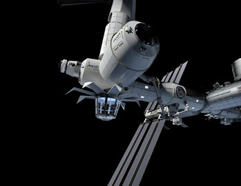 Concept art of an Axiom space station