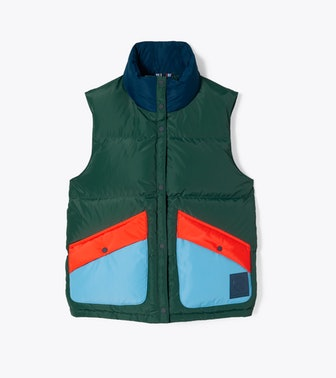 Color-Block Down Vest