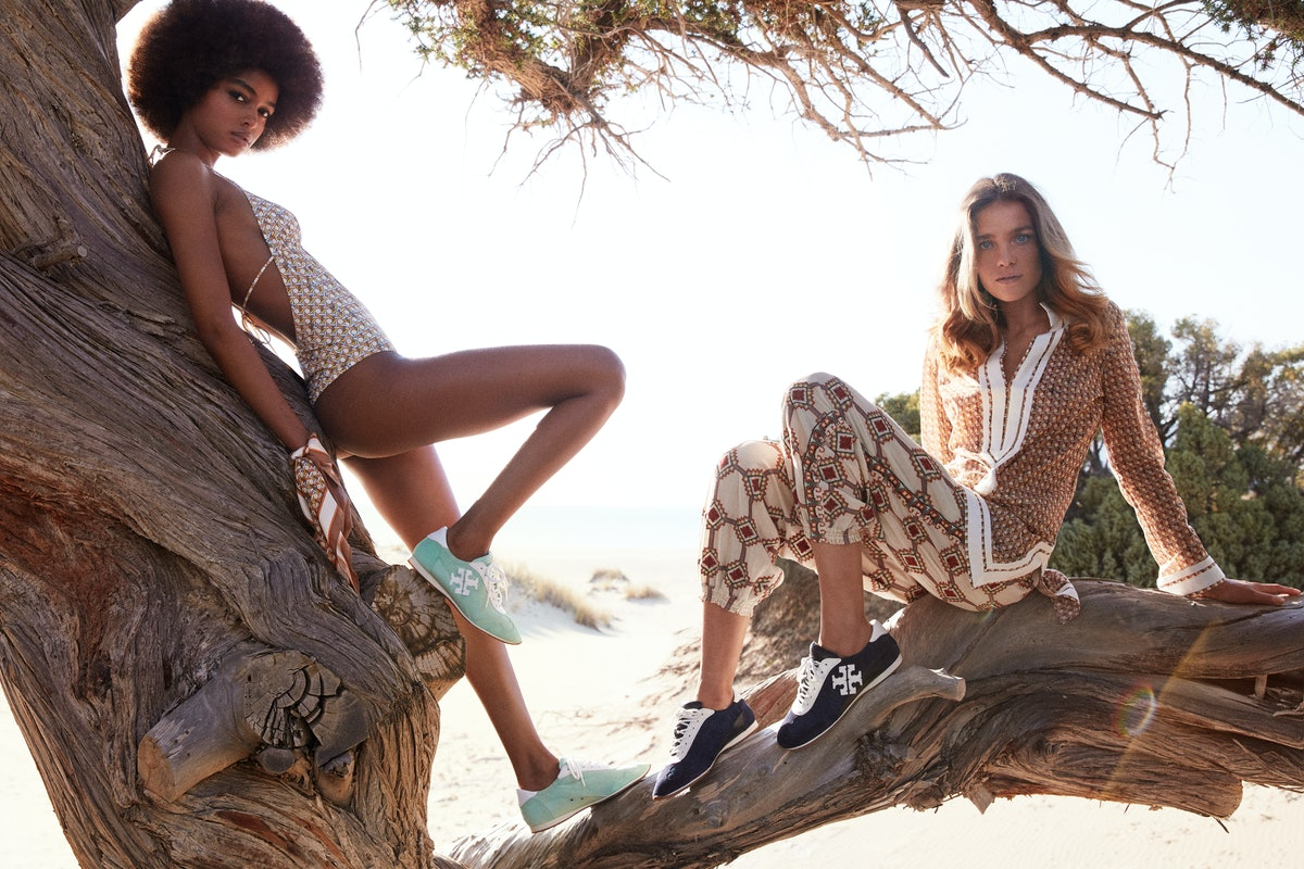 Models star in Tory Burch's Spring/Summer 2021 campaign.