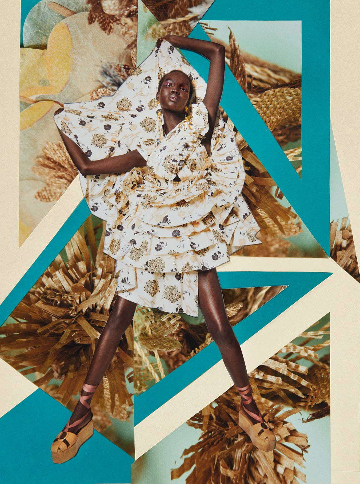 Model appears in Ulla Johnson Spring/Summer 2021 campaign.