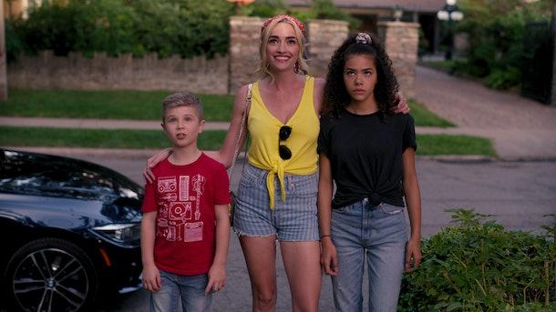 Austin Miller, (Diesel La Torraca), Georgia (Brianne Howey), and Ginny Miller (Antonia Gentry) in Netflix's 'Ginny & Georgia'