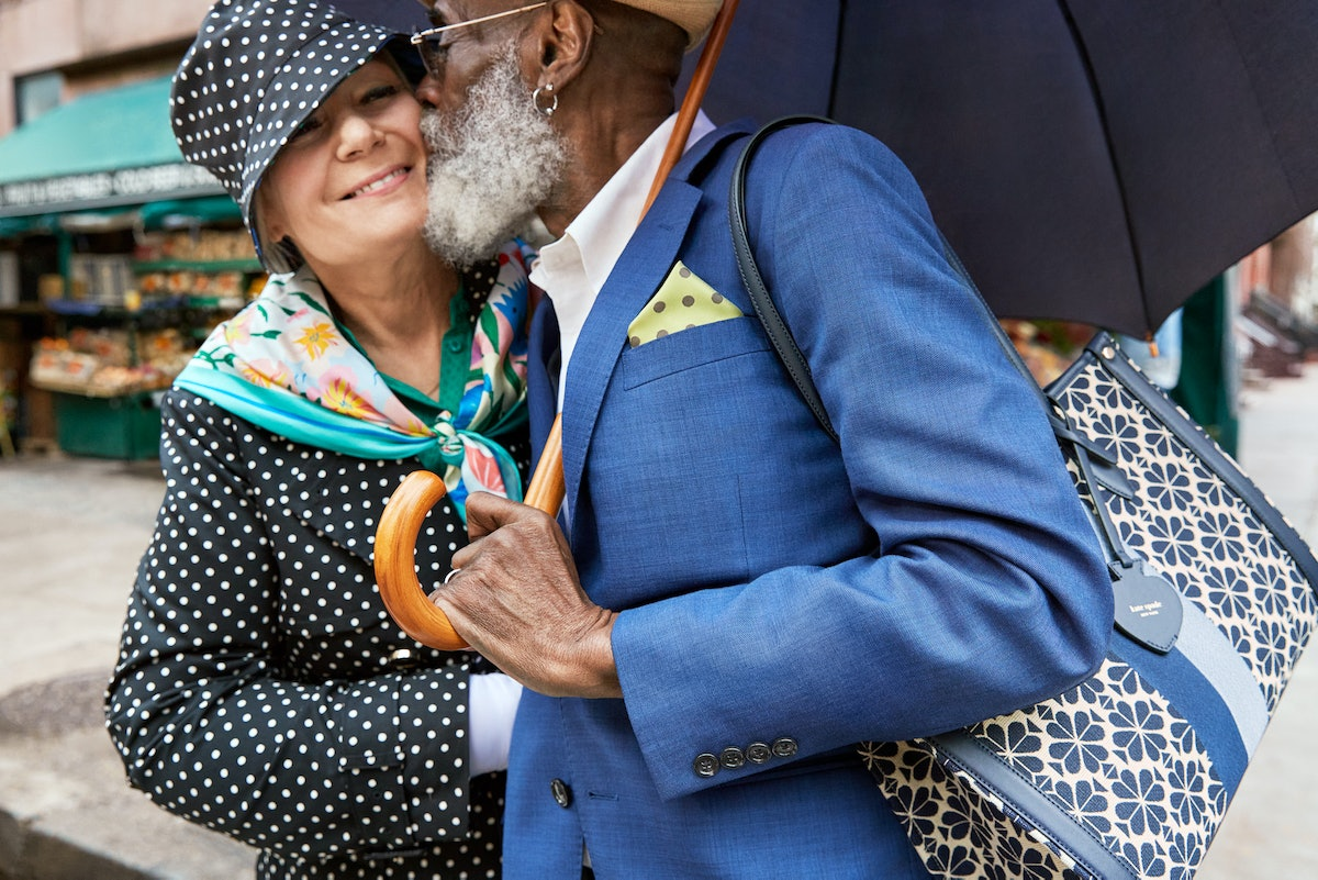 New York couples Claudine Boros and Clyde Griffin star in Kate Spade New York Spring/Summer 2021 cam...
