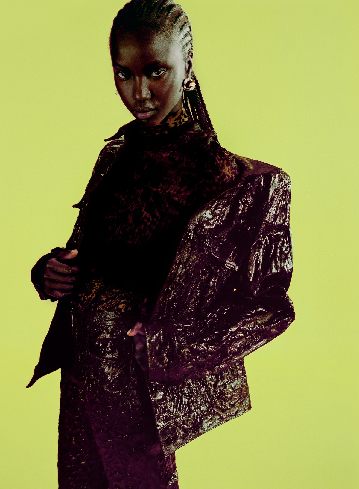 Anok Yai models in Givenchy Spring/Summer 2021 campaign.