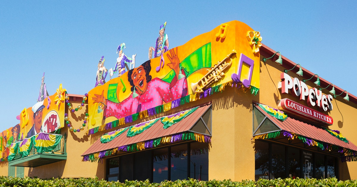 Light Up Mardi Gras With These Colorful Pics Of 3 NOLA Popeyes Decorated Like Floats