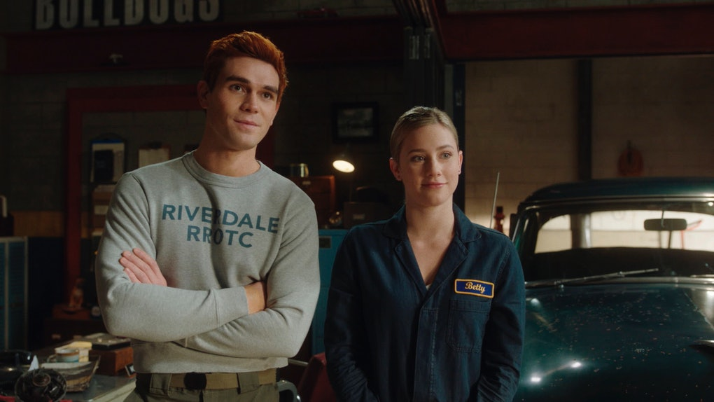 Apa as Archie Andrews and Lili Reinhart as Betty Cooper in The CW's 'Riverdale'