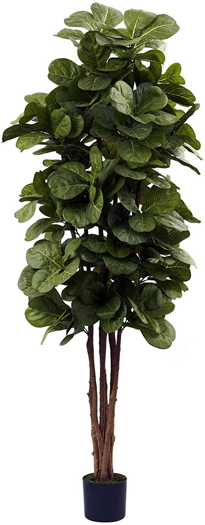 Nearly Natural 6-Foot Fiddle Leaf Fig Artificial Tree