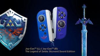 A photo of Zelda-themed JoyCon