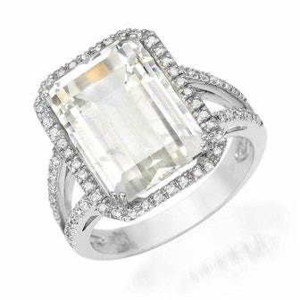 Emerald Cut White Topaz Ring