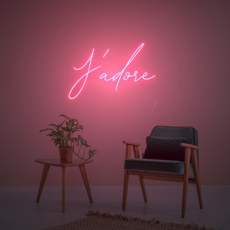J'Adore, LED neon sign by Diet Prada