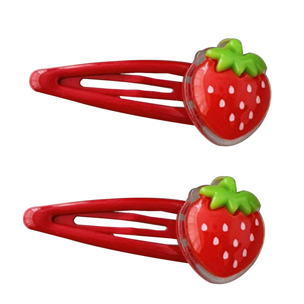 Strawberry Snap Barrettes Hair Accessories