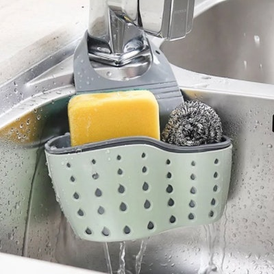 Adjustable Rubber Sink Caddy Organizer