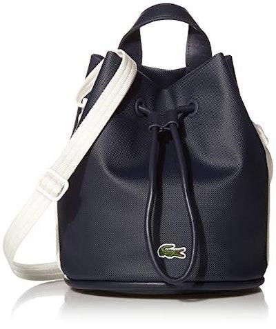 Lacoste Small Court Line Bucket Bag, Eclipse Farine