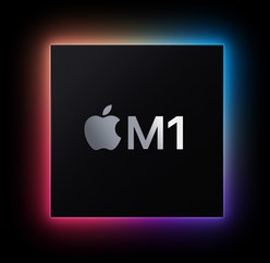 Square graphic for Apple's M1 chip