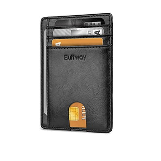 Buffway Minimalist Front Pocket Leather Wallet
