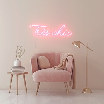 Très chic, LED neon sign by Diet Prada