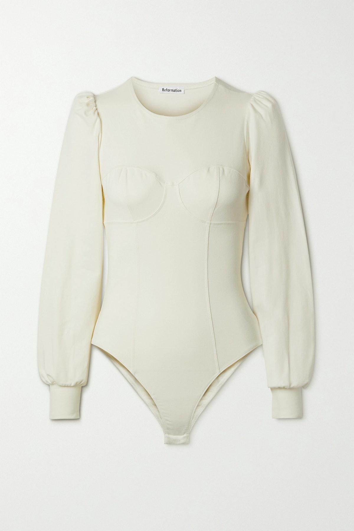 Emery Stretch-Organic Cotton Jersey Bodysuit