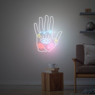 Spiritual Hand, LED neon sign by Diet Prada