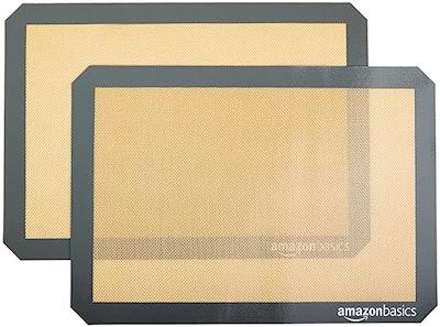 Amazon Basics Silicone Non-Stick, Food Safe Baking Mat (2-Pack)