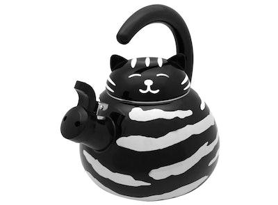 Supreme Housewares Gourmet Art Black Cat Kettle, 2.1 qt.