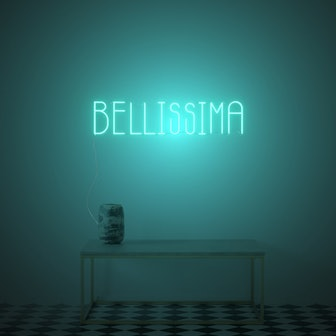 Bellissima, LED neon sign by Diet Prada
