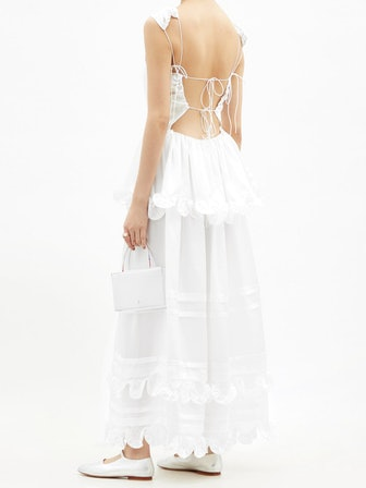 Echo Tiered Silk-Charmeuse Gown