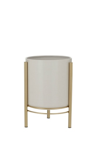 Sverre Metal Pot with Gold Stand