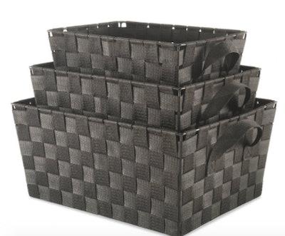 Woven Strap Storage Baskets