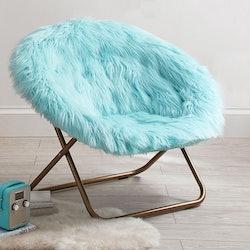 Faux-Fur Round Chair