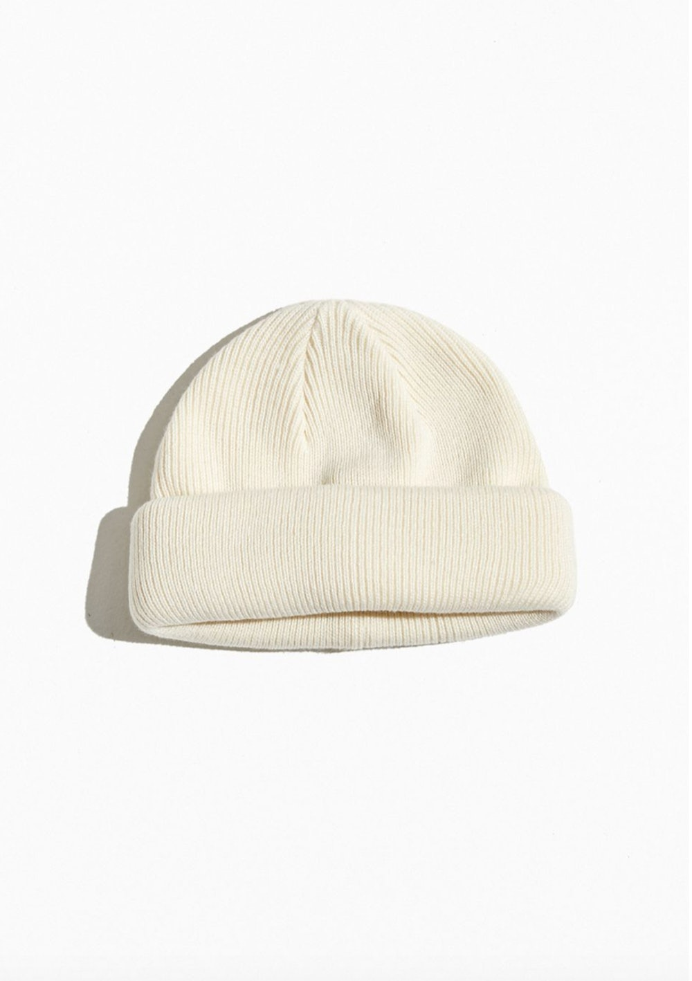 Short Roll Circular Knit Beanie