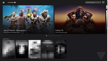 Purported images showing the browser version of Microsoft's xCloud game streaming service.