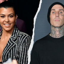 Travis Barker and Kourtney Kardashian. Photo via Getty Images