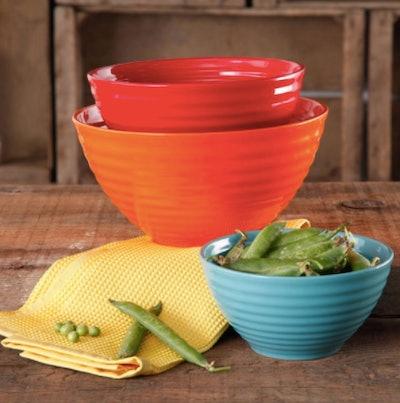 Flea Market 3-Piece Ceramic Tableware Bowl Set