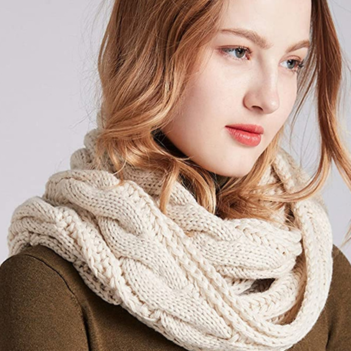 NEOSAN Thick Knit Infinity Scarf