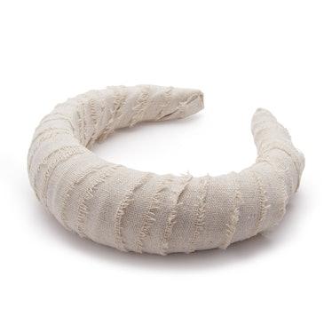 Linen Croissant Headband
