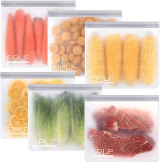 SPLF Reusable Gallon Freezer Bags (6-Pack)